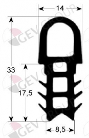 900063 - Deurrubber siliconen 1650x700 mm