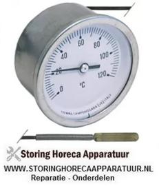047541091 - Thermometer inbouw ø 60mm t.max. 120°C 0 tot +120°C voeler ø 6,5mm voeler L 28mm