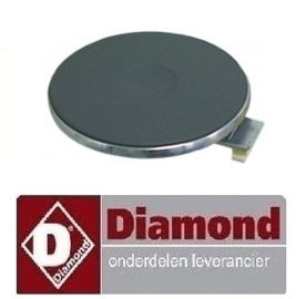 177.665.006.00 - Kookplaat ø 220mm 2600 Watt voor fornuis DIAMOND E77/2P4T-N