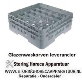 288972130 - Glazenwaskorf CAMBRO L 500 mm B 500 mm aantal glazen 25 H 183 mm werklengte 165 mm compartiment G 89 x 89 mm