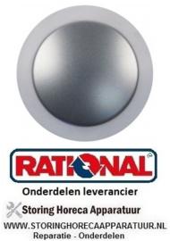 156111649 - Knop ø 69mm as ø 5mm zilver RATIONAL