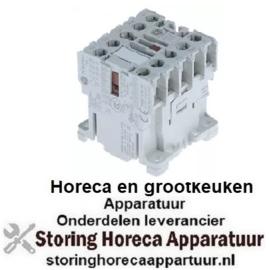 443380839 -Relais AC1 20A 24VAC (AC3/400V) 9A/4kW hoofdcontact 3NO hulpcontact 1NO