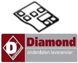 705F2716 - Toetsenbord voor bedieningsprintplaat aardappelschilmachine DIAMOND PPF-10