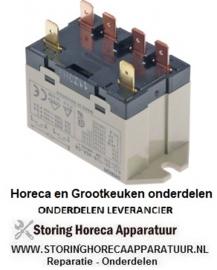 346088267 - Relais OMRON 230VAC 25A 2NO aansluiting vlaksteker 6,3mm overslagbevestiging