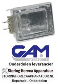 143357171 - Ovenlamp compleet inbouwmaat 55 x 70 mm 230 Volt - 25 Watt GAM