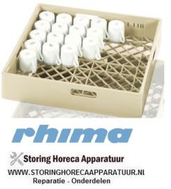 55035000071 - Rhima universeelkorf, beige, 500x500 mm  25 vaks glas