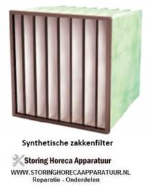 SYNTHETISCH MEERLAAGS ZAKKENFILTER KLASSE M6 - IFS65 SF