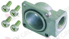 "102845 - Gasaansluiting haaks 1/2"" flens 32x32mm LA 24x24mm Tandem"