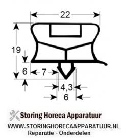 068901820 -Schokvriezerpakking profiel 9794Z B 336mm L 692mm passend voor BARON