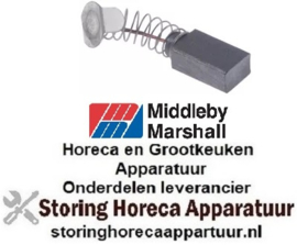 776698650 - Carbonborstel L 15,5mm B 6mm H 9mm per 2 stuks MIDDLEBY MARSHALL
