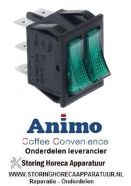 0290.25.69 - Dubbele wipschakelaar groen koffie machine ANIMO A100W