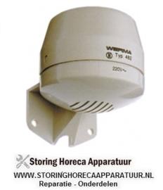 133379332 - Alarmgever ø 70mm H 80mm schroefbevestiging bevestigingsafstand 45mm 92dB bescherming IP33
