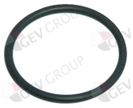 100809 - O-ring EPDM materiaaldikte 2mm, ID ø 21mm vpe 1stuk