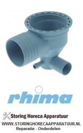 01650510019 - Aanzuig/afvoerdeel vaatwasser RHIMA DR50 - 2000 t/m 2005