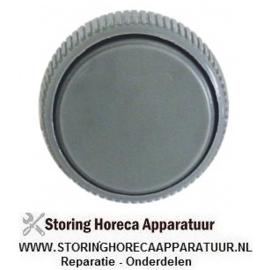 733110905  - Knop schakelaar nulstreep ø 42mm as ø 6x4,6mm afvlakking rechts zwart voor timer Ø 42 mm