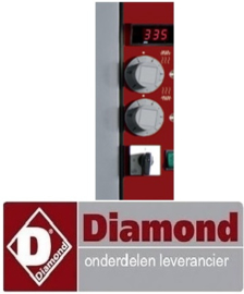 917S.73FN550.07 - Thermosstaat knop met aanduiding 2/4/6/8/10 -GRIJS DIAMOND LD12/35-N