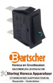 518301038 - Wipschakelaar inbouw rechthoekig groen BARTSCHER
