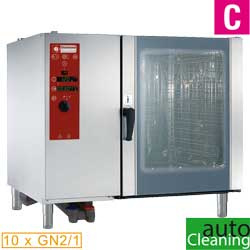 SDE/12-CL - Elektrische oven directe stoom en convectie, 10xGN2/1+Cleaning DIAMOND