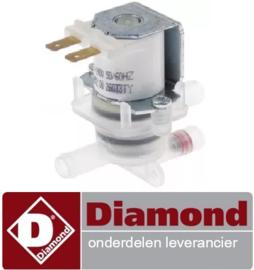 729999288 - Magneetventiel dubbel recht 220-240VAC voor vaatwasser DIAMOND