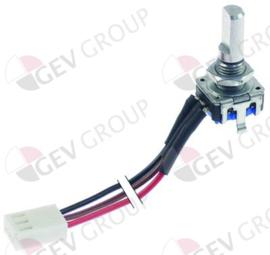 300254 - Potmeter voor heteluchtoven kabellengte 160mm as 6x4,6mm as L 16mm