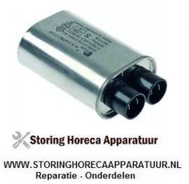 365184 - HV-kondensator voor magnetron 1,1µF type CH85-21110 2100V 50/60Hz dubbel