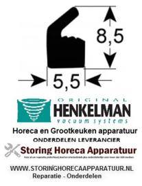 8090320215 - Dekselpakking silicone prijs per meter voor vacumeerapparaat HENKELMAN BOXER 42
