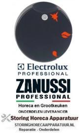 261111599 - Knop gaskraan met ontstekingsvlam ø 50mm as ø 10x8mm afvlakking boven zwart Electrolux, Zanussi