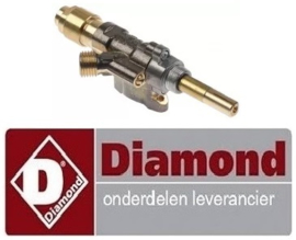 466.0.100.0030 - Gaskraan voor bakplaat DIAMOND PLANCHA