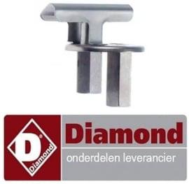 1710C3644 - Waakvlambrander 2-vlammig voor gasfornuis DIAMOND G17/4F8T-N