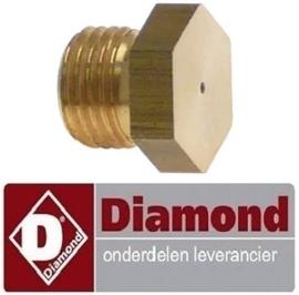 545RTCU900236 - Gasinspuiter propaangas boring ø 1,2mm voor gasfornuis DIAMOND