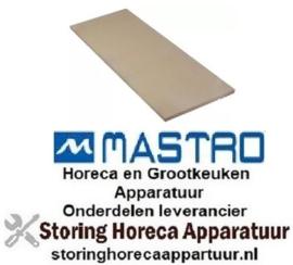 229850128 - Vuurvaststeen L 1074mm B 358mm H 16mm voor pizza oven MASTRO