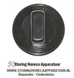 211110078 - Knop zonder symbool ø 70mm as ø 6x4,6mm