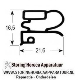 018900005 - Koeldeurrubber profiel 9030 B 675mm L 770mm buitenmaat 1/2 deur koeltechniek ( Electrolux, Friulinox, Whirlpool, Zanussi )