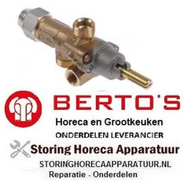 241101095 - Gaskraan PEL type 21S gasingang M16x1,5 (pijp ø 10mm) BERTOS
