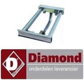 244RTCU700744 - Staafbrander 2-rijen bakplaat DIAMOND E77/PL4T-N