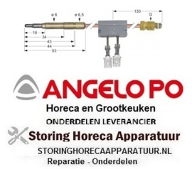 17333A0140 - Thermokoppel met onderbreker ANGELO PO
