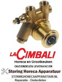 """503500177 - Drukverhogings pompkop PA204X FLUID-O-TECH L 82mm 200l/h aansluiting 3/8"""" GAS met filter en bypass koper"""