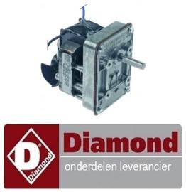 ST1500603 - Tandwielmotor 230V -  50/60Hz schacht ø 8mm - L 91mm - B 64mm -H 118mm voor band oven DIAMOND TPW/30