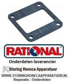 155510565 - Pakking rubber L 82mm B 82mm materiaaldikte 4mm gat ø 9mm LA 64mm voor verwarmingslelement RATIONAL