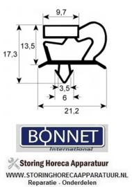 015900726 - Koeldeurrubber profiel 9048 B 370mm L 600mm steekmaat BONNET