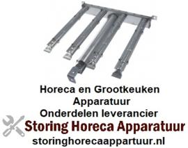 151105422 - Brander staafbrander 4-rijen L 480mm - B 450mm lavasteengrill