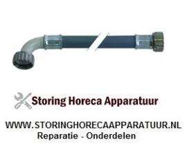 """542520011 - Toevoerwaterslang PVC recht-haaks DN13 aansluitingen 3/4"""" L 2000mm werkdruk 10bar"""
