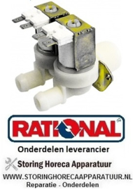 "268370022 - Magneetventiel dubbel recht 230VAC ingang 3/4"" uitgang 14mm DN10 TP RATIONAL"