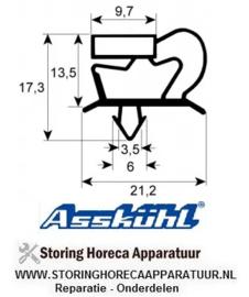 63900785 - Koeldeurrubber profiel 9048 B 635mm L 735mm steekmaat ASSKUHL