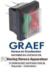 313348113 - Wiptaster inbouwmaat 250V - 16A drukkend/drukkend voor snijmachine GRAEF