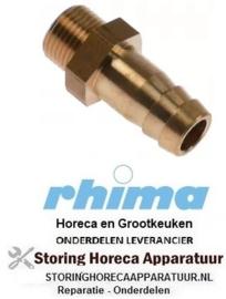 244361704 - Slangaansluiting koper recht draad M12x1 slang ø 11mm RHIMA