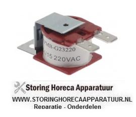 240350050 - Alarm zoemer 230VAC aansluiting vlaksteker 6,3mm schroefbevestiging draad M4 - 60dB