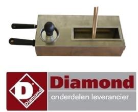 142BRET/KIT-C -  Set van 2 houten spatels T vorm pannenkoekenplaat DIAMOND BRET/2E-R