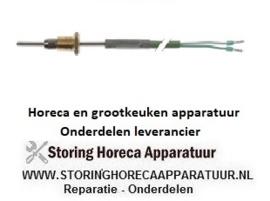29530141016 - Temperatuurvoeler thermokoppel K (NiCr-Ni) kabel silicone voeler -50 tot +1150°C RATIONAL