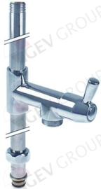 """549954 - Stijgpijp lang met uitgang type CLASSIC H 715mm keramisch bovendeel 1/2"""" 90°"""